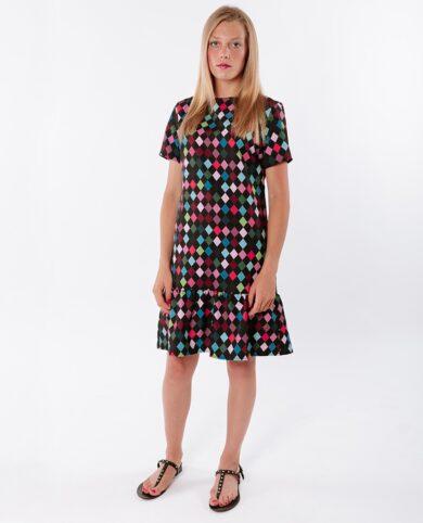 vestido arlequín