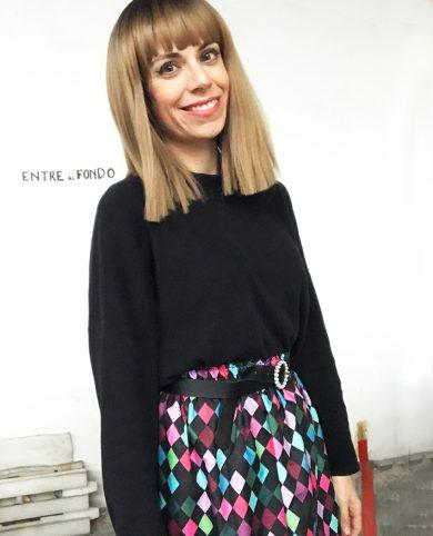 Falda arlequín