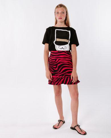 Falda cebra