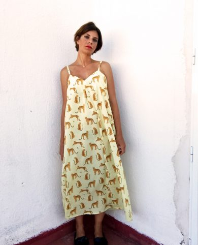 Vestido largo tigres yellow