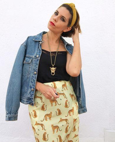 Falda tigres amarillo