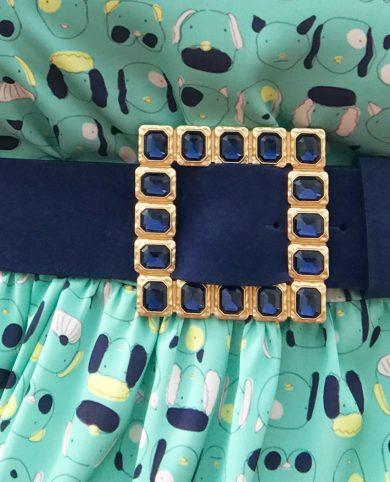Cinturón cuadrado azul