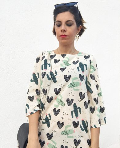 Vestido corto cactus y corazones