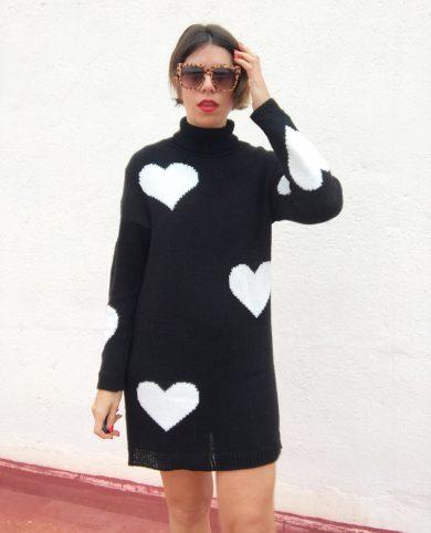 Vestido punto corazones