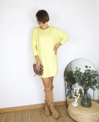 Vestido punto amarillo