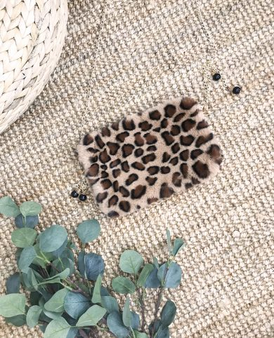 Bandolera leopardo pelito