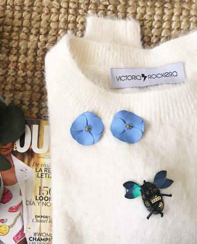 Pendientes amapolas azules