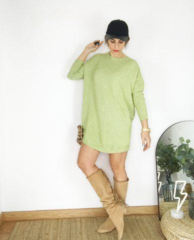 Vestido punto verde