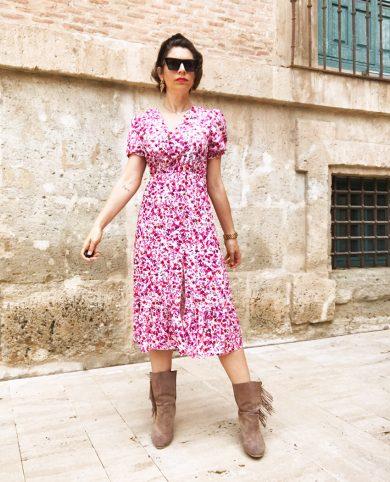 Vestido florecitas rosas