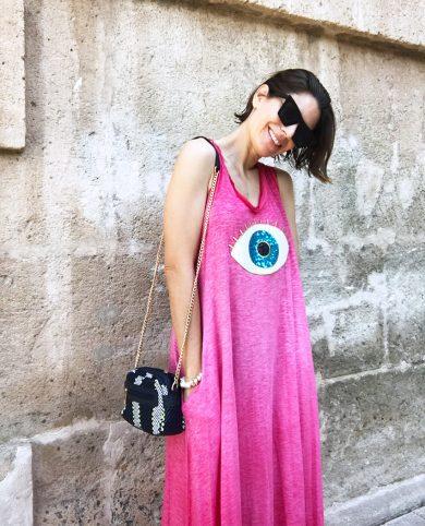 Vestido ojo rosa
