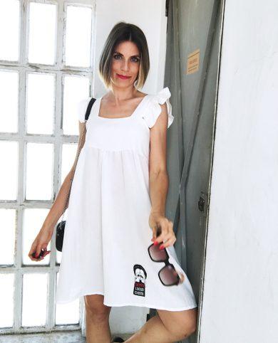 Vestido blanco siento luego existo