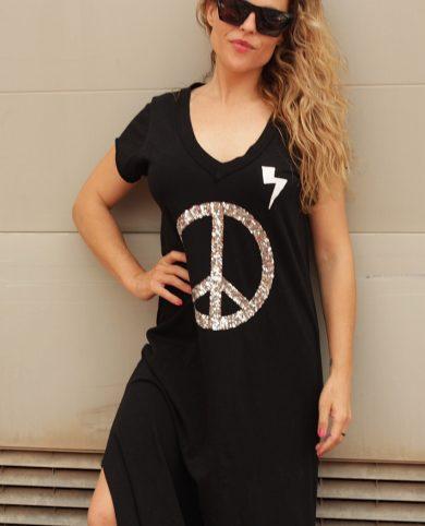 Vestido paz negro